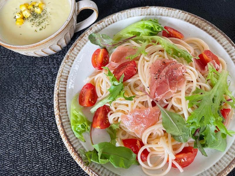 保護中: 簡単!トマトと生ハムの冷製カッペリーニ風