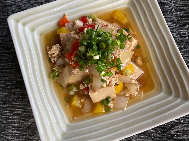 栄養満点高野豆腐のそぼろあんかけ