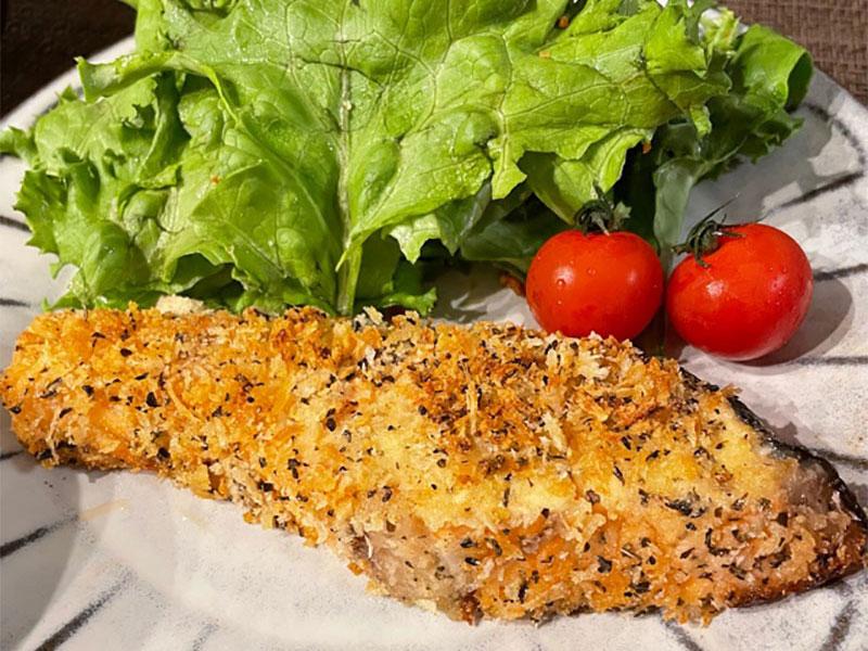 保護中: 鮭の香草チーズパン粉焼き